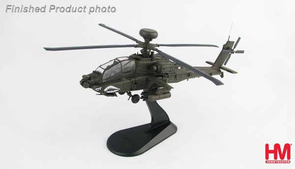 Hobby Master Collector 1/72 Air Power HH1202 Boeing AH-64D Longbow (Late Variant) 05-7011, 1st Attack Recon. Bttn., 1st Combat Aviation Brigade, 1st ID, Camp Speicher, Tikrit, Iraq 2010. US Army AH-64 Apache Attack Helicopter (Military Airplanes Diecast Model, Pre built Aircraft Scale Model)