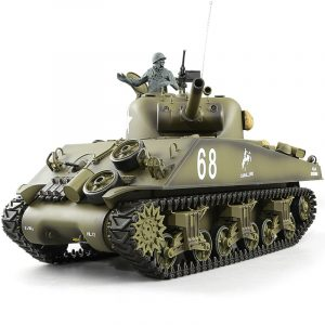 Heng-Long 3898 M4A3 Sherman RC Tank Basic Plastic Parts Edition, World War II United States Medium Tank M4 Sherman 1/16 Scale Model Remote Control Tank (Toy Tank, Military Vehicle Toy)