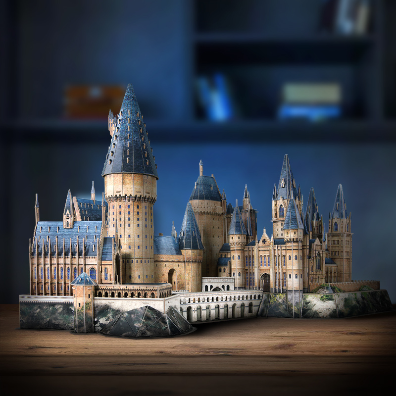 Harry Potter Hogwarts School of Witchcraft and Wizardry 3d jigsaw puzzle Hogwarts Castle Paper 3D Puzzle