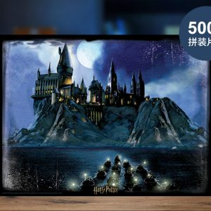 """Hogwarts Boats Transport first years student at Hogwarts School of Witchcraft and Wizardry to Hogwarts Castle""--- 3D Lenticular Printing Image, 500 Pieces Harry Potter Movie CLIP Jigsaw Puzzle, (Cubicfun Toys (Cubic-Fun E1616H) Paper Puzzles Best gift for Harry Potter fans."