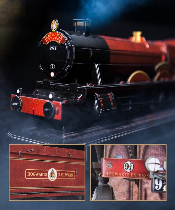 Hogwarts Express Hogwarts Railways Harry Potter and Ronald Weasley Flying Ford Anglia Platform Nine and Three-Quarters Harry Potter Movie scene 3D Paper Puzzle Set Hogwarts School Witchcraft Wizardry