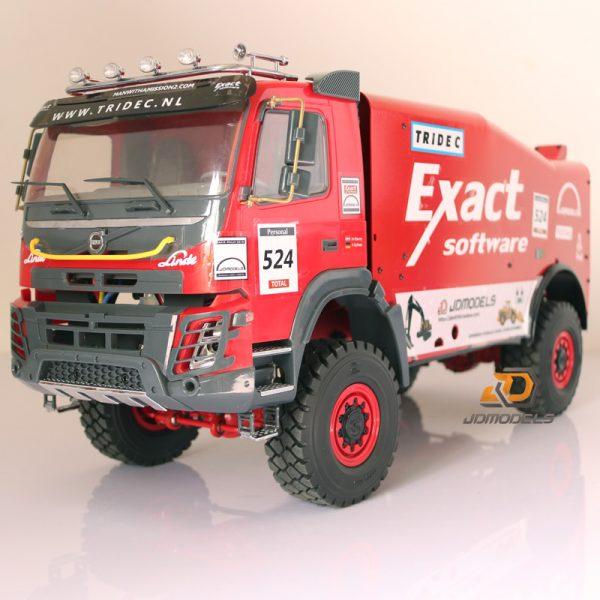1/14 Volvo FMX 4x4 RC Metal Truck, Remote Control Dakar Rally Truck Scale Model, 4WD RC Off-Road Desert Truck, Four-Wheel Drive Crossing Sand Dune, Mud, Camel Grass, Rocks, Radio Control Racing Truck