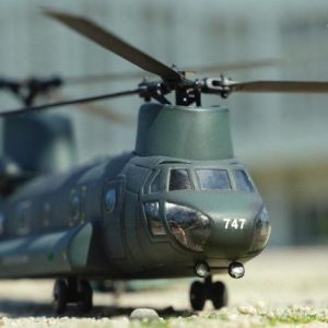 Handmade Transform, 1/55 Scale Boeing CH-47 Chinook Transport Helicopter Miniature Model Convert To RC Helicopter. Scale Model Kits Transformed Into High Fidelity Remote Control Helicopter