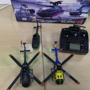 """ALL IN ONE--Hobby Fans Collector's Edition"", This order collects all Nine Eagles released MBB Bo-105 Light utility helicopter RC Scale Model. (Nine Eagles Solo Pro 135, 4 blades, Brushless Motor, 3-axis gyroscope, Simulation shape, Like real RC Helicopter)"