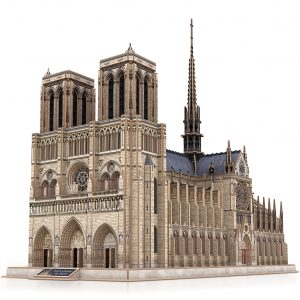 Notre-Dame de Paris Cubicfun MC260h 3D Paper Jigsaw Puzzle (Cubic-Fun MC260h Notre Dame Cathedral 3D Puzzle). 293 Pieces 10 stars difficult Large Challenge Adult 3D Puzzle. Gothic Architecture Scale Model. DIY Building Handicrafts, Gift&Present.