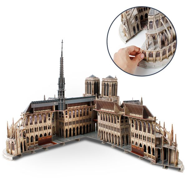 Notre-Dame de Paris 3D Paper Jigsaw Puzzle Gothic Architecture Notre Dame Cathedral Scale Model Notre-Dame Crafts Catholic Artwork Carvings French Gothic cathedrals