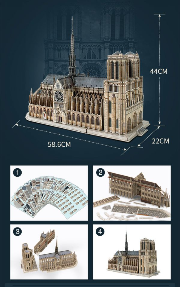 "Notre Dame de Paris is widely considered one of the finest examples of French Gothic architecture in the world. It was restored and saved from destruction by Viollet-le-Duc, one of France's most famous architects. The name Notre Dame means ""Our Lady"" in French."
