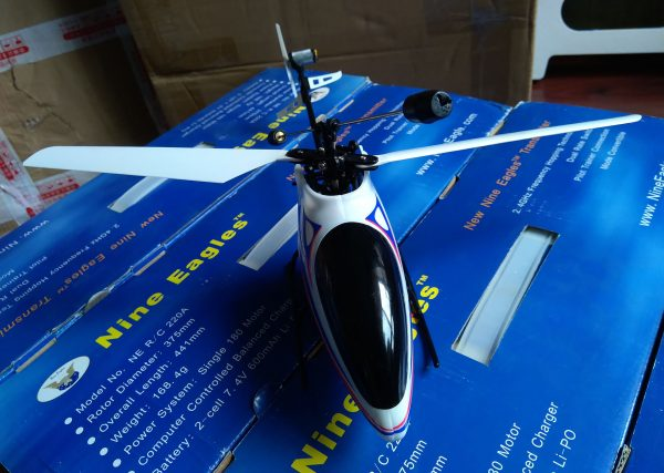 Classic Best electric RC Helicopter For Any Skill Level (Beginners & Intermediate & Advanced), Nine Eagles 220A Free Spirit RTF (Ready to Fly) blade rc helicopter, 4 channel mini rc helicopter, indoor & outdoor rc helicopter, 2.4GHz Micro rc helicopter with gyroscope