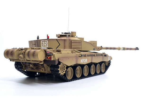 RTF RC Challenger 2 British Army (United Kingdom, UK, U.K.) Main Battle Tank. 1/16 Scale Model Tank, Heng Long 3908 Remote Control Tank. Radio Control Military Vehicle Electric Toy. (HL 3908 British Challenger 2 RC Tank Plastic Version)