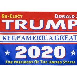 """Re-Elect Donald J. TRUMP KEEP AMERICA GREAT 2020 For PRESIDENT OF The UNITED STATES"" Donald Trump 2020 Presidential Campaign Flag, Trump Campaign Slogan & Logos & Poster & ads & Banners. (3FT x 5FT, 90cm x 150cm, 35in x 59in) Trump Sure to Win Flag"