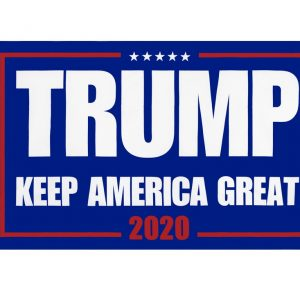 """TRUMP KEEP AMERICA GREAT 2020"" Donald Trump 2020 Presidential Campaign Flag, Trump Campaign Slogan & Logos & Poster & ads & Banners. (3FT x 5FT, 90cm x 150cm, 35in x 59in) Blue Background, White Text, White Stars, Red 2020 And Wireframe"