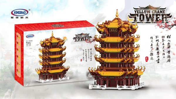 "6794 PCS My Own Creation City Street View MOC-01024 ""Yellow Crane Tower"", High Difficulty That Takes a Lot of Time to Build Building Blocks (MOC Custom Bricks, Compatible Building Blocks Bricks)"