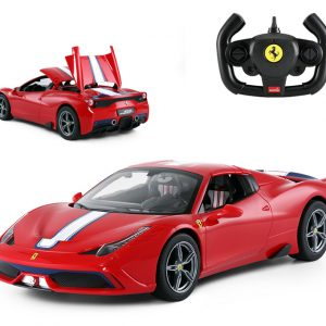Red Ferrari 458 Speciale A RC Toy Car. 1/14 Scale RASTAR RC Car 74560 Ferrari Radio Remote Control Sports Car, Boys, Kids, Boy, Girl, Toy Vehicle, Birthday Gifts, Holiday Presents. Ferrari steering wheel controller, One click To Ferrari convertible.