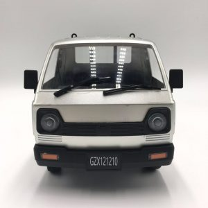 Silver RTR Remote Control Suzuki Carry Van Compact Pickup Truck, 1/10 Scale RC Japan Kei Truck / Kei Car, RC Suzuki Microvan Mounted Longitudinally Rear-mid Engine, Rear-wheel drive (RWD)