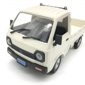 White RTR Suzuki Carry Japanese Mini Truck 2.4GHz Radio Remote Control Suzuki Light Truck Scale Model, 1/10 Scale RC Suzuki Carry Van Compact Pickup Truck (RC Kei Truck, RC Kei Car, Suzuki Microvan)
