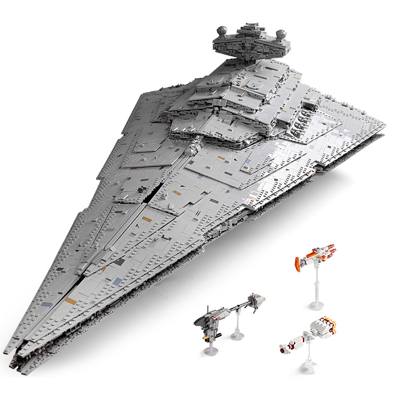 11885 Pieces Bricks, Huge Size 118cm! Imperial Star Destroyer Monarch (MOC-23556, MOULDKING 13135) Custom Building Blocks Bricks. Compatible With 75252 Star Wars Imperial Star Destroyer.