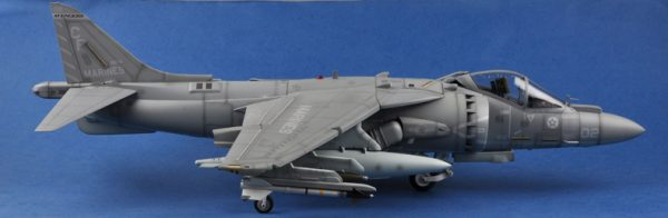 Merit International No. 60027 USMC AV-8B Harrier II Completed (Already Assembled) 1:18 Scale Model, (HOBBY BOSS AIRCRAFT 81804 Plastic Scale Model Kits McDonnell-Douglas AV-8B Harrier II Jet Fighter Aircraft Airplane Finished Model)
