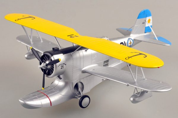 1/48 Scale Miniature Model, (Trumpeter & HobbyBoss) EasyModel 39324 Grumman J2F Duck Single-Engine Amphibious Biplane Completed Painted Weathered (Already Assembled & Finished Model) Scale Model, (Suitable for Collection & Collect, War Battlefield Diorama Scene, Exhibits, Decorations, Gift)