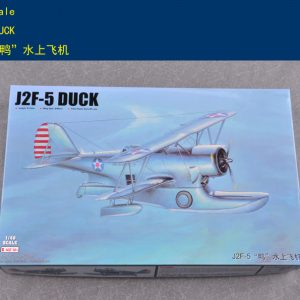 (Trumpeter) Merit-intl MIL-64805 Plastic Scale Model Kits, 1/48 Grumman J2F Duck Single-Engine Amphibious Biplane Model Building Kits. United States Navy, U.S Army Air Forces, U.S Coast Guard, U.S Marine Corps Seaplane, Fighter, Aircraft, Airplane Plastic Model Making Kit.