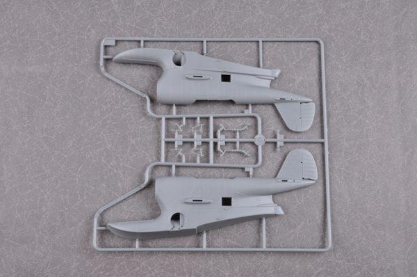 (Trumpeter) Merit-intl MIL-64805 Plastic Scale Model Kits, 1/48 Grumman J2F Duck Single-Engine Amphibious Biplane Model Building Kits. United States Navy, U.S Army Air Forces, U.S Coast Guard, U.S Marine Corps Seaplane, Fighter, Aircraft, Airplane Plastic Model Making Kit.