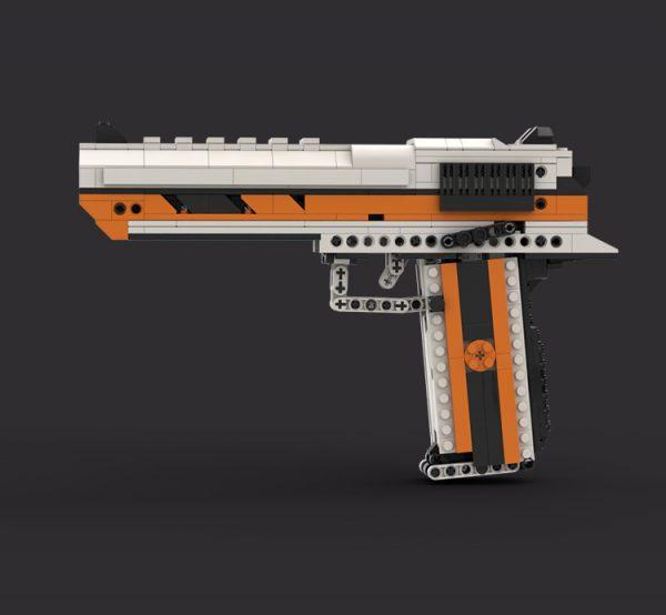 Desert Eagle Building Blocks, DIY Toy Gun Desert Eagle Assembly Custom Compatible Bricks MOC Ideas Can Fire Building Block Bullets Desert Eagle 1:1 Semi-automatic Pistol Scale model