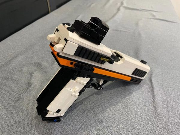 DIY Glock G18 Gun Scale Model, G18 Fully automatic 9mm pistol MOC Custom Bricks, Technology Compatible Building Blocks, Asiimov Sci-fi camouflage G18 With sight Workable Adult toy pistol gift